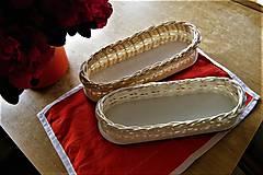 Dekorácie - Košíky z pedigu bieleného a prírodného - 9405410_