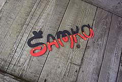 Detské doplnky - drevené písmenká Mickey.... - 9410448_