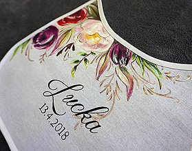Iné doplnky - svadobné podbradníky - vintage kvety - 9410647_
