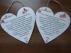 Tabuľky - Poďakovanie svadobným rodičom - 9411706_