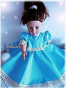 Hračky - Luxury beige lace & blue dots - 9409441_