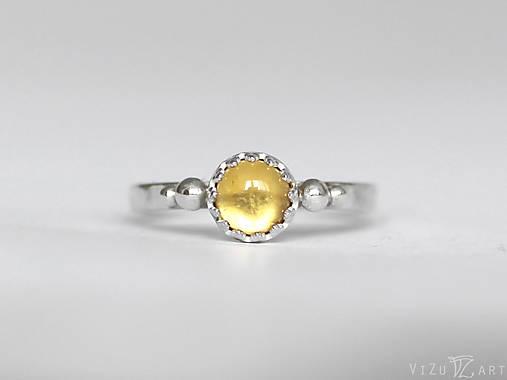 Strieborný prsteň s citrínom - La Cita