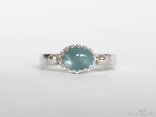 Strieborný prsteň s akvamarínom - La Qua