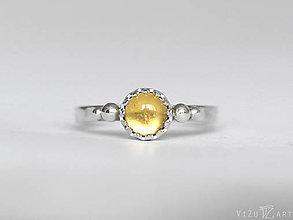 Prstene - Strieborný prsteň s citrínom - La Cita - 9409062_
