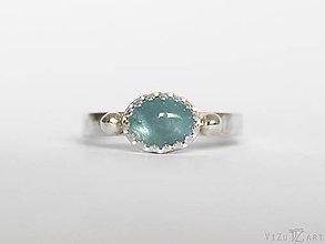 Prstene - Strieborný prsteň s akvamarínom - La Qua - 9409505_