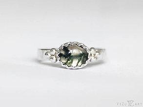 Prstene - Strieborný prsteň s machovým achátom - La Mossa - 9409590_