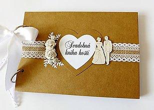 Papiernictvo - svadobná kniha hostí - 9408998_
