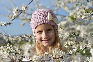 Detské čiapky - Zľava z 15 na 10 eur-Orgovánovo ružová čiapka - 9411487_