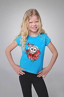 Detské oblečenie - Dievčenské tričko - Sovka - 9411165_