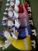 Dekorácie - závesné anjeliky veľké (Tyrkysová) - 9410702_