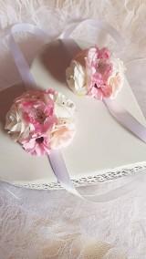náramok pre družičky ružový s čerešňovým kvetom