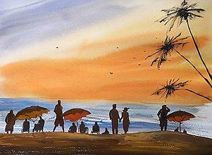 Obrazy - Zapad slnka na plazi - 9410030_