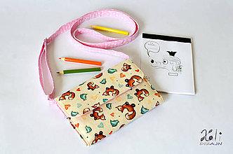 Detské tašky - Detská kabelka - pastelkovníčka Líštičky béžové - 9411214_