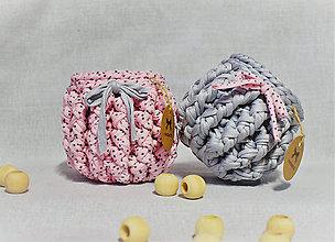 Košíky - Buřtíkaté dekorační košíky 12/11,5 cm - 9408985_