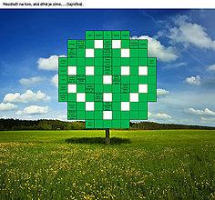 """Grafika - Krížovka """"Zakvitnutý strom"""" - 9410835_"""