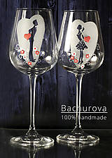 - Svadobné poháre (Pieskovaná mená a dátum sobáša) - 9411374_