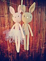 Hračky - Hačkovaný králik - 9409797_