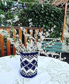 Nádoby - Háčkovaná váza - Jar v svetri - 9408470_