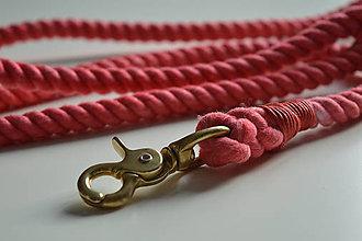 Pre zvieratká - Lanové vodítko, ružová / 15mm - 9411687_