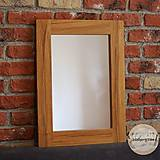 Zrkadlá - Drevené zrkadlo DUB - 9411020_