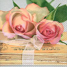 Papier - ruže - 9408677_