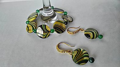Sady šperkov - sada z perlete a achátu - 9411017_