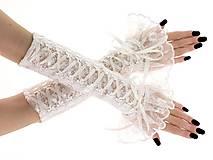 Rukavice - Svadobné čipkované rukavice , ivory 0435 - 9411640_