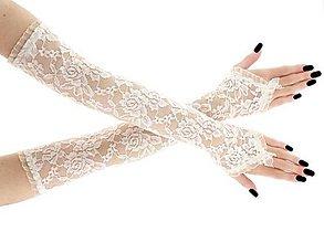 Rukavice - Svadobné rukavice čipkové ivory 01 - 9411789_