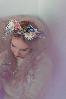 Ozdoby do vlasov - Lúčny kvetinový venček