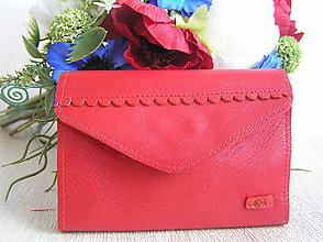 Peňaženky - Peňaženka červená - 9409891_