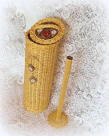 Košíky - Košík - zásobník - natur - 9408741_