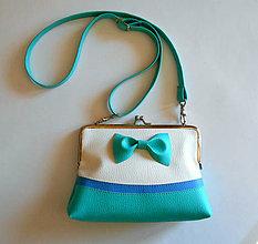 Detské tašky - tyrkysová s modrou - 9410662_