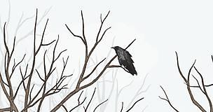 Grafika - RAVEN IN DARK FOREST - 9410617_