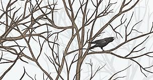 Grafika - RAVEN IN DARK FOREST - 9410619_