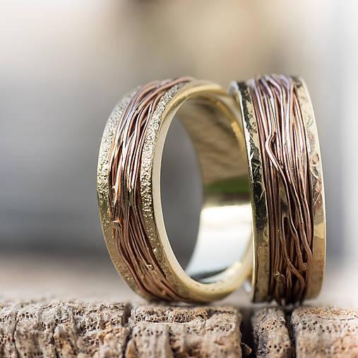Prstene - Prepletené cesty Alenky a Ivana - 9414893_