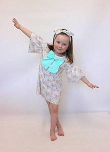 Detské oblečenie - dievčenské retro šaty s mašľou v.92-122 - 9411923_