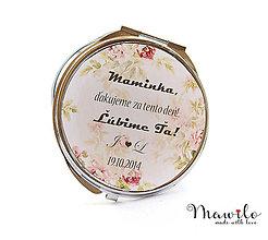 Darčeky pre svadobčanov - Svadobné zrkadielko pre maminky - 9413608_