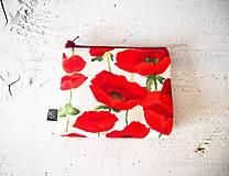 Taštičky - Kozmetická taška malá - divé maky  - 9412895_