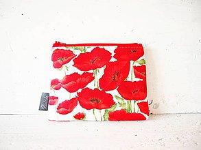 Taštičky - Kozmetická taška veľká - divé maky - 9412939_