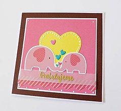 Papiernictvo - pohľadnica k narodeniu dieťatka - 9412208_