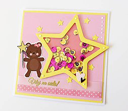 Papiernictvo - pohľadnica k narodeniu dieťatka - 9412838_