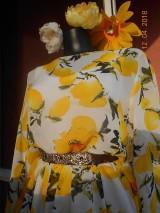 Šaty - Citróny - šifónové šaty AKCIA!!! - 9414530_