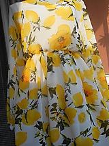 Šaty - Citróny - šifónové šaty AKCIA!!! - 9414531_