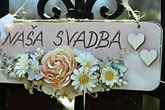 Tabuľky - Svadobná tabuľka - 9413538_