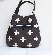 Veľké tašky - Veľká letná taška - plus vs. strieborná - 9414777_
