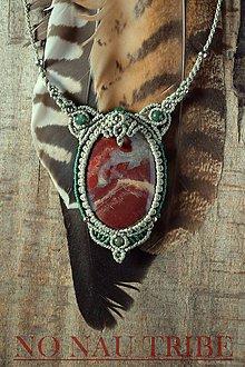 Náhrdelníky - Boho náhrdelník s červeným jaspisom - 9413474_