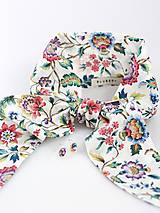 Letná kvetinová šatka s náušnicami