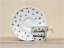 Nádoby - Ristretto šálka s podšálkou na kávu (50 ml) - Piccolo neexistuje! - 9414054_