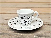 Nádoby - Ristretto šálka s podšálkou na kávu (50 ml) - Piccolo neexistuje! - 9414055_