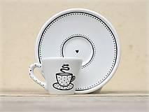 Nádoby - Ristretto šálka s podšálkou na kávu (50 ml) - Piccolo neexistuje! - 9414076_